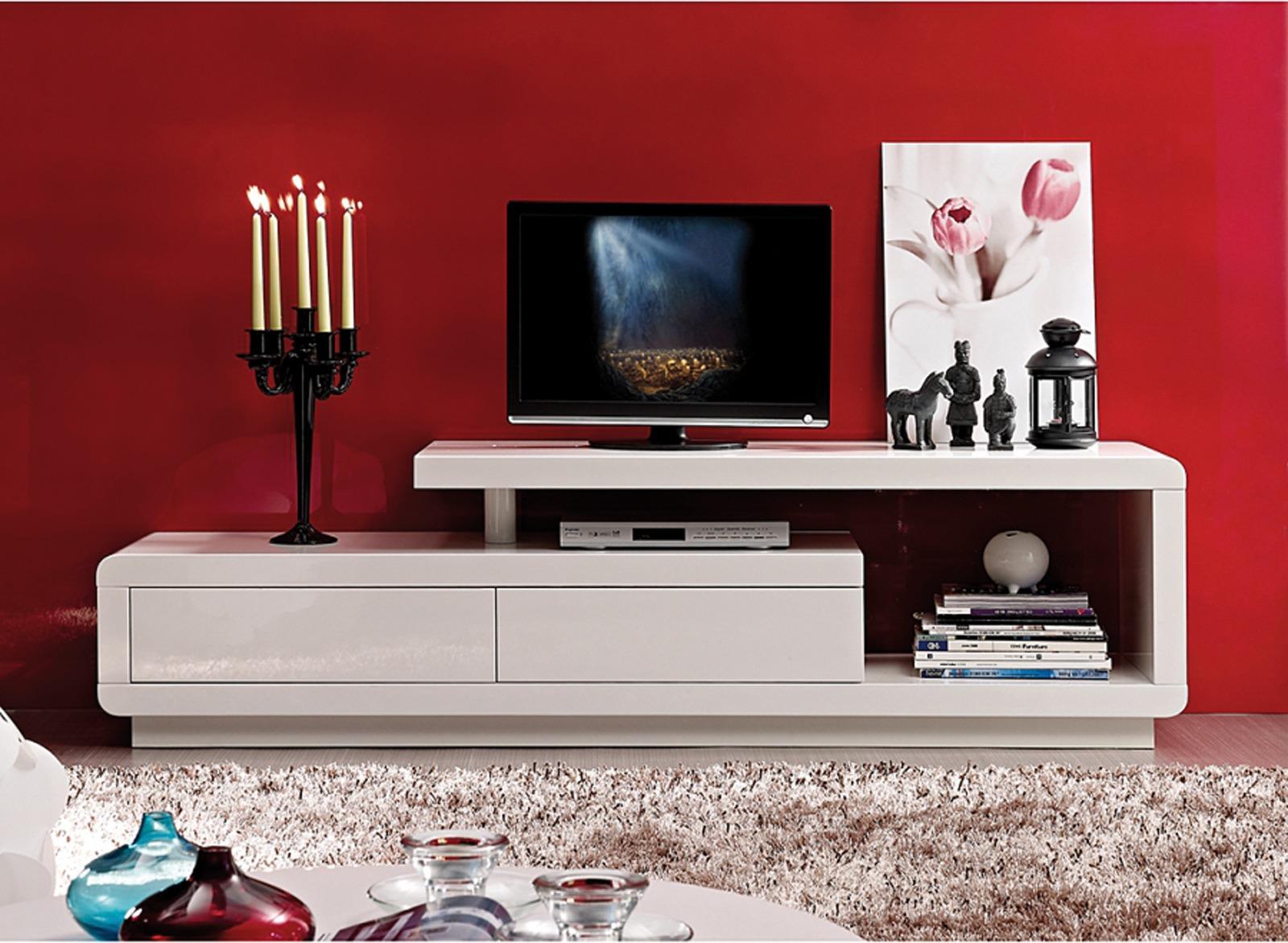 Tv Meubel Design Hoogglans Wit.Tv Kast 2110 1