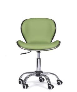bureaustoel-groen-chroom-verstelbaar