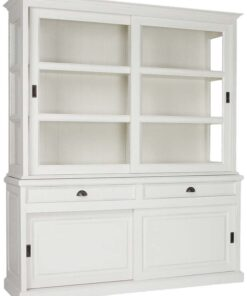 5086 RAL9010 - Cabinet 2x2-sliding doors 2-drawers