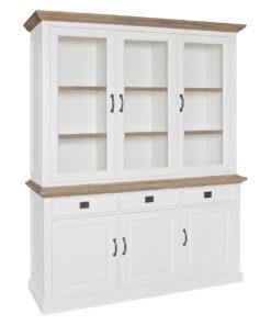 6142 RAL9010 - Cabinet Oakdale 2x3-doors 3-drawers