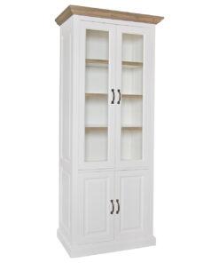 6145 RAL9010 - Cabinet Oakdale 2x2-doors 3-shelves