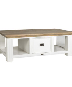 6148 RAL9010 - Coffee table Oakdale 130x80 2-drawers