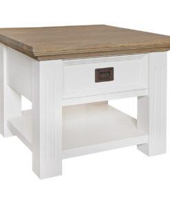 6149 RAL9010 - Corner table Oakdale 60x60 1-drawer