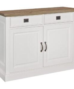 6152 DR RAL9010 - Sideboard Oakdale 2-doors 2-drawers