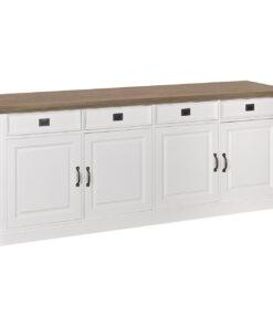 6154 DR RAL9010 - Sideboard Oakdale 4-doors 4-drawers
