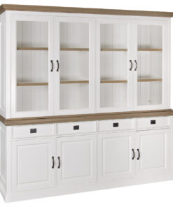 6154 RAL9010 - Cabinet Oakdale 2x4-doors 4-drawers