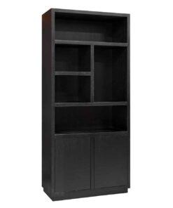 6502 BLACK - Book case Oakura 2-doors