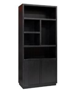6515 BLACK - Book case Oakura 2-doors