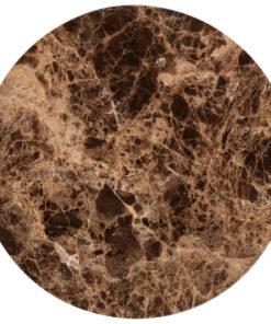 7032 - End table Dalton round 40Ø brown emperador marble