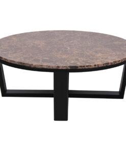 7036 - Coffee table Dalton round 90Ø brown emperador marble