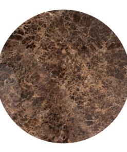 7037 - Dining table Dalton round 130Ø brown emperador marble