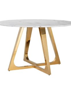 7233 - Dining table Dynasty round 130Ø faux marble