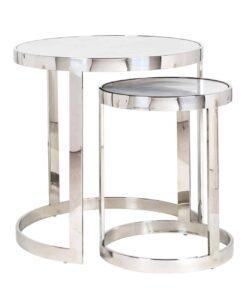 7245 - End table Levanto set of 2 round