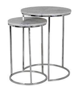7260 - Corner table Lacey with marble top