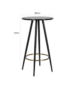 7278 - Bar table Lando round 60Ø