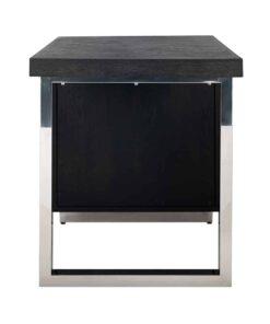 7402 - Desk Blackbone silver with 1-door