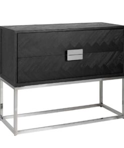 7403 - Chest of drawers Blackbone silver with 2-drawers