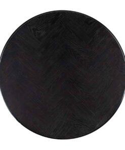 7405 - Coffee table Blackbone silver set of 2 round