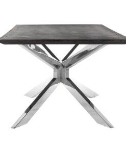 7406 - Dining table Blackbone Matrix silver 200