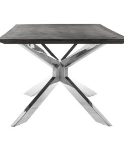 7407 - Dining table Blackbone Matrix silver 240