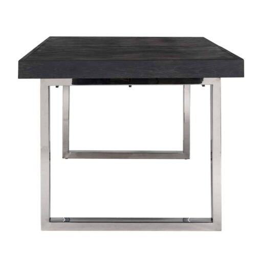 7410 - Dining table Blackbone silver with extension 195(265)