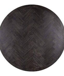 7411 - Dining table Blackbone silver round Ø140