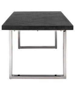 7412 - Dining table Blackbone silver 180