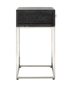7413 - Nightstand Blackbone silver 1-drawer