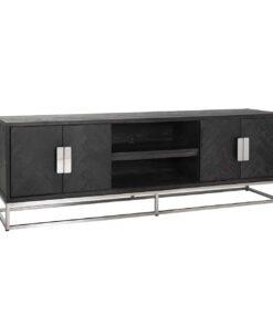7414 - TV-Unit Blackbone silver 4-doors 185