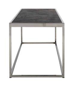 7424 - Coffee table Blackbone silver 160x40