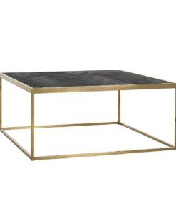 7433 - Coffee table Blackbone gold 90x90