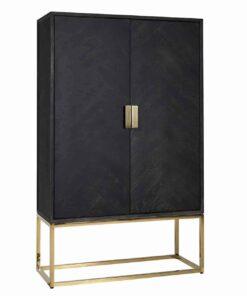 7437 - Cabinet Blackbone gold with 2-doors