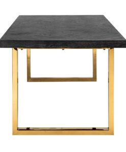 7439 - Dining table Blackbone gold 220