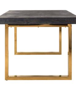 7440 - Dining table Blackbone gold with extension 195(265)
