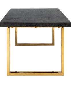 7442 - Dining table Blackbone gold 180