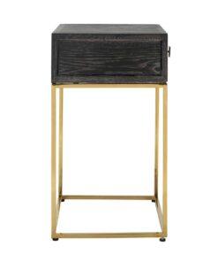 7443 - Nightstand Blackbone gold 1-drawer