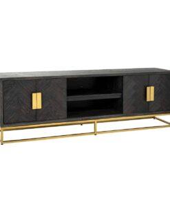 7444 - TV-Unit Blackbone gold 4-doors 185