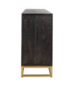 7446 - Sideboard Blackbone gold 4-doors + open space