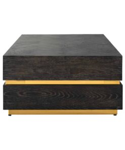 7447 - Coffee table Blackbone gold block 150x80