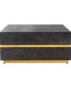 7448 - Coffee table Blackbone gold block 90