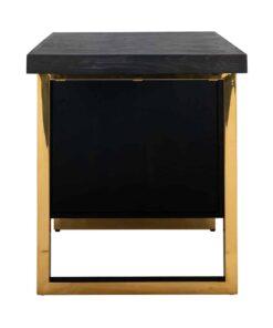 7462 - Desk Blackbone gold with 1-door