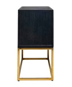 7463 - Chest of drawers Blackbone gold with 2-drawers