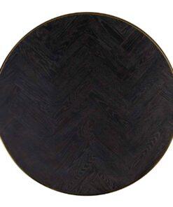 7465 - Coffee table Blackbone gold set of 2 round