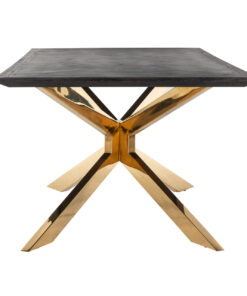 7466 - Dining table Blackbone Matrix gold 200