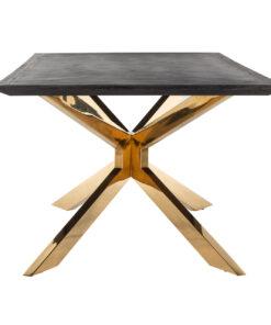 7467 - Dining table Blackbone Matrix gold 240