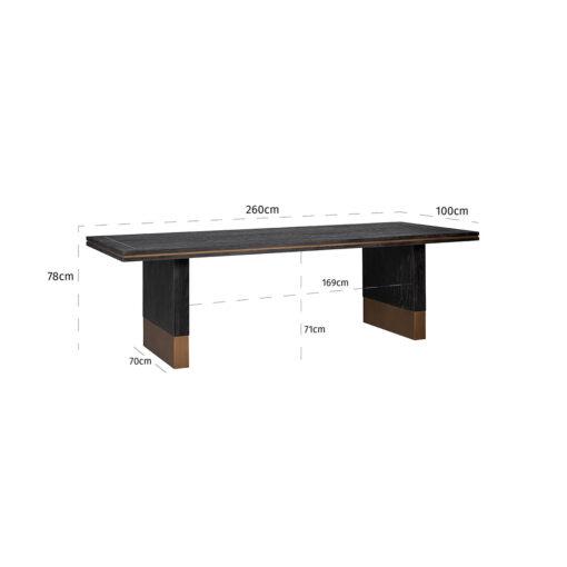 7486 - Dining table Hunter 260