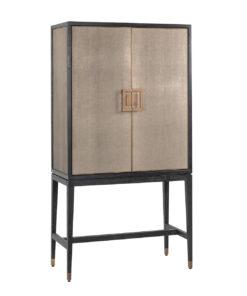 7520 - Bar Cabinet Bloomingville with 2-doors vegan shagreen
