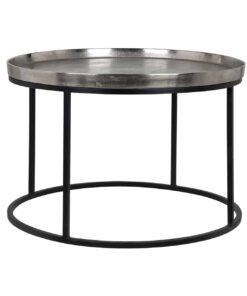 825028 - Coffee table Lyam aluminium silver 70Ø