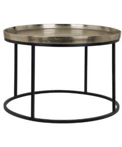 825030 - Coffee table Milo aluminium champagne gold 70Ø