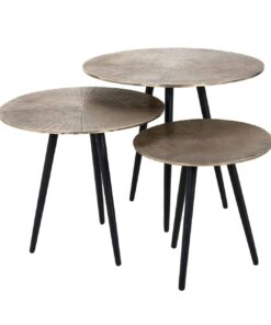 825033 - Coffee table Vittorio set of 3 in champagne gold